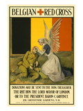 Belgian Red Cross Wall Decal by Charles A. Buchel