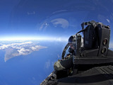 US Air Force Captain Looks out Over the Sky in a F-15 Eagle Photographic Print by  Stocktrek Images