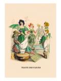 Traite des Fleurs Wall Decal by J.J. Grandville