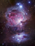 M42, the Orion Nebula (Top), and NGC 1977, a Reflection Nebula (Bottom) Photographic Print by  Stocktrek Images