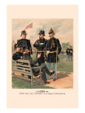 Staff and Line Officers in Full Dress and Chaplain Wall Decal by H.a. Ogden