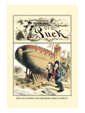 Puck Magazine: Cannot Sail, Try to Sink Wall Decal by F. Graetz