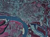 Memphis, Tennesee, Map Poster