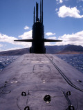 Bow and Sail View of USS Kamehameha, SSN 642, on the Surface off the Coast of Oahu, Hawaii Photographic Print by  Stocktrek Images