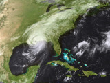 Hurricane Katrina Moved Ashore Over Southeast Louisiana and Southern Mississippi on August 29, 2005 Photographic Print by Stocktrek Images