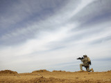 US Army Sergeant Provides Security During a Patrol of the Riyahd Village in Iraq Photographic Print by  Stocktrek Images