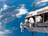 STS-116 Mission Specialists Participate in the First of the Three Mission&#39;s Extravehicular Activity Photographic Print by Stocktrek Images 