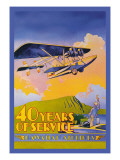 Hawaiian Airlines, 40 Years of Service Wall Decal by C.e. White