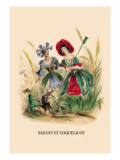 Bleuet et Coquelicot Wall Decal by J.J. Grandville
