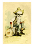 Death Whittles a Stick Wall Decal by F. Frusius M.d.
