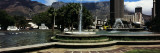 Fountain with Table Mountain in the Background, Cape Town, Western Cape Province, South Africa Wall Decal by  Panoramic Images
