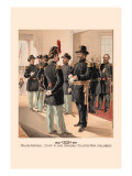 Major-General, Staff and Line Officers, Enlisted Men in Full Dress Wall Decal by H.a. Ogden