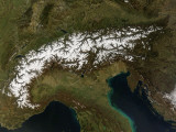 The Alps, March 13, 2007 Photographic Print by Stocktrek Images
