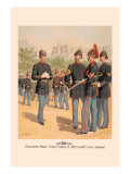 Enlisted Men, Staff and Artillery in Full Dress Wall Decal by H.a. Ogden