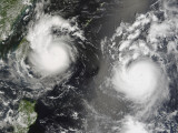 Typhoon Saomai and Tropical Storm Bopha Approaching Taiwan and China, August 8, 2006 Photographic Print by Stocktrek Images