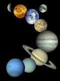 Solar System Montage Photographic Print by  Stocktrek Images