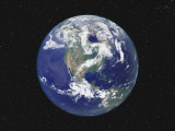 Earth Pair Centered on North America Photographic Print by  Stocktrek Images