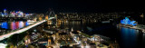 Buildings Lit Up at Night, Sydney, New South Wales, Australia Wall Decal by  Panoramic Images