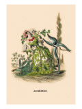 Aubepine Wall Decal by J.J. Grandville