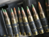 Belted Bullets for an M-249 Squad Automatic Weapon Photographic Print by Stocktrek Images 
