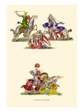 Knight Fighting Wall Decal by H. Shaw