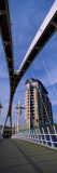 Footbridge in City, Salford Quays Millennium Footbridge, Salford Quays, Greater Manchester, England Wall Decal by  Panoramic Images