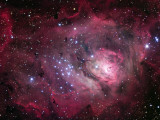 The Lagoon Nebula Photographic Print by  Stocktrek Images