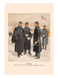 Officers and Enlisted Men in Overcoats and Capes Wall Decal by H.a. Ogden