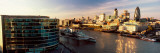 View of a City, Thames River, London, England Wall Decal by  Panoramic Images
