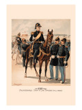 Major General, Staff and Line Officers in Full Dress Wall Decal by H.a. Ogden