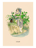 Lilas Wall Decal by J.J. Grandville