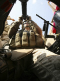 A Marine Rocks His M-2 50-Caliber Machine Gun at Camp Fallujah's Eagle Range Photographic Print by  Stocktrek Images