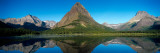 Reflection of Mountains in Lake, Swiftcurrent Lake, Many Glacier, Us Glacier National Park, Montana Autocollant mural par Panoramic Images