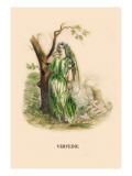 Verveine Wall Decal by J.J. Grandville