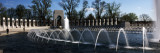 Fountains at a War Memorial, National World War Ii Memorial, Washington Dc, USA Wall Decal by  Panoramic Images