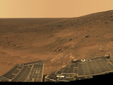 September 1, 2005, Panoramic View of Mars Taken from the Mars Exploration Rover Photographic Print by  Stocktrek Images