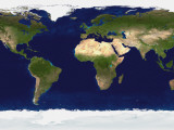The Blue Marble: Land Surface, Ocean Color and Sea Ice Photographic Print by  Stocktrek Images
