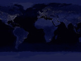 October 23, 2000, Global View of Earth's City Lights Photographic Print by  Stocktrek Images
