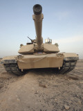 An M-1A1 Main Battle Tank Casts a Daunting Image in the Desert Near Dra Digla, Iraq Photographic Print by Stocktrek Images
