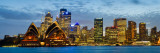 Opera House Lit Up at Dusk, Sydney Opera House, Sydney Harbor, New South Wales, Australia Wall Decal by  Panoramic Images