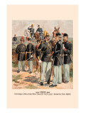 Officers and Enlisted Men, Cavalry, Artillery, Infantry in Full Dress Wall Decal by H.a. Ogden