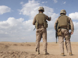Marines Scan the Horizon for Insurgent Activity During a Security Patrol Photographic Print by  Stocktrek Images
