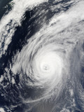 Typhoon Sudal South of Japan Photographic Print by  Stocktrek Images
