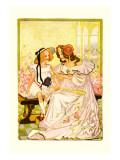 Dorothy and Ozma Vinilo decorativo por John R. Neill