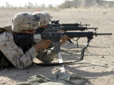 A Corpsman Fires His M16A2 Service Rifle to Acquire a Battle Sight Zero Photographic Print by Stocktrek Images