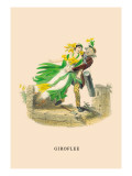 Giroflee Wall Decal by J.J. Grandville