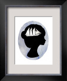 Boat on Your Mind Framed Giclee Print by Charmaine Olivia