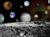 Montage of Images Taken by the Voyager Spacecraft Photographic Print by Stocktrek Images 