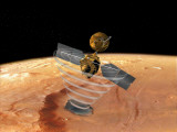 Artist's Conception of Orbit Insertion by Mars Reconnaissance Orbiter Photographic Print by  Stocktrek Images