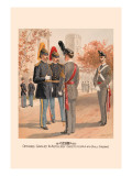 Officers, Cavalry and Artillery, Cadets Usma in Full Dress Wall Decal by H.a. Ogden